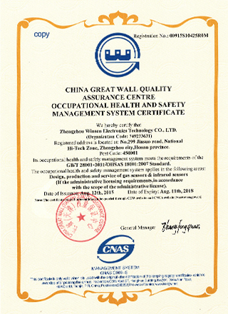 ISO18001:2007  Certification